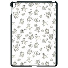 Doodle Bob Pattern Apple Ipad Pro 9 7   Black Seamless Case