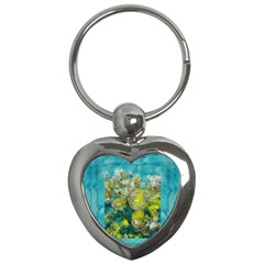 Bloom In Vintage Ornate Style Key Chains (heart)