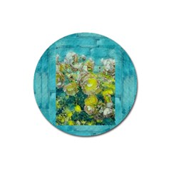 Bloom In Vintage Ornate Style Magnet 3  (round) by pepitasart