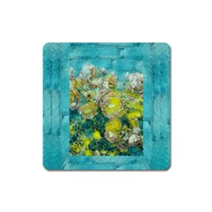 Bloom In Vintage Ornate Style Square Magnet