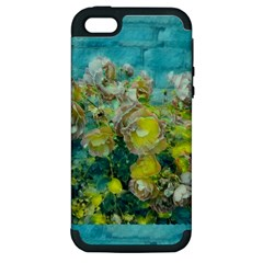 Bloom In Vintage Ornate Style Apple Iphone 5 Hardshell Case (pc+silicone)