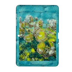 Bloom In Vintage Ornate Style Samsung Galaxy Tab 2 (10 1 ) P5100 Hardshell Case  by pepitasart