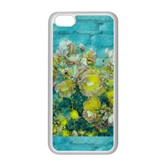Bloom In Vintage Ornate Style Apple Iphone 5c Seamless Case (white) by pepitasart