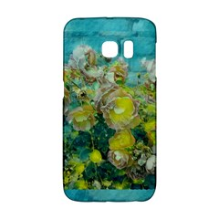 Bloom In Vintage Ornate Style Samsung Galaxy S6 Edge Hardshell Case by pepitasart
