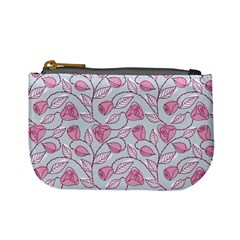 Pink Roses Mini Coin Purse