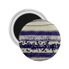 Abstract Beige Blue Lines 2 25  Magnets