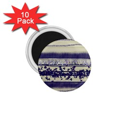 Abstract Beige Blue Lines 1 75  Magnets (10 Pack)