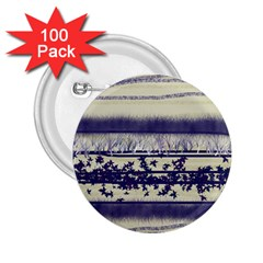 Abstract Beige Blue Lines 2 25  Buttons (100 Pack)