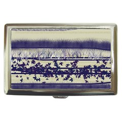 Abstract Beige Blue Lines Cigarette Money Case
