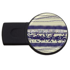Abstract Beige Blue Lines Usb Flash Drive Round (2 Gb)