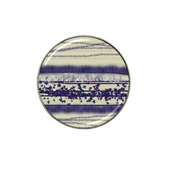 Abstract Beige Blue Lines Hat Clip Ball Marker (4 Pack)