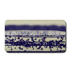 Abstract Beige Blue Lines Medium Bar Mats