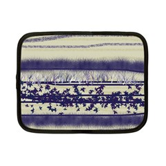 Abstract Beige Blue Lines Netbook Case (small)