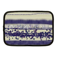 Abstract Beige Blue Lines Netbook Case (medium)