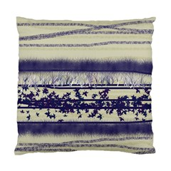 Abstract Beige Blue Lines Standard Cushion Case (two Sides)