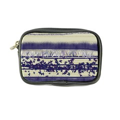 Abstract Beige Blue Lines Coin Purse
