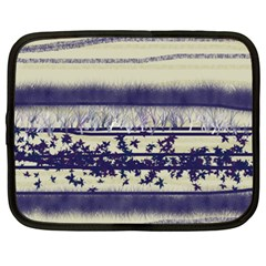 Abstract Beige Blue Lines Netbook Case (xxl)