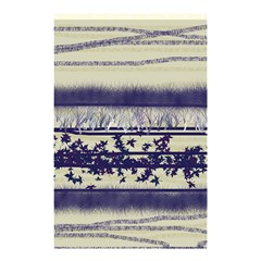 Abstract Beige Blue Lines Shower Curtain 48  X 72  (small)