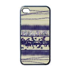 Abstract Beige Blue Lines Apple Iphone 4 Case (black)