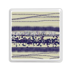 Abstract Beige Blue Lines Memory Card Reader (square)