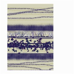 Abstract Beige Blue Lines Small Garden Flag (two Sides)