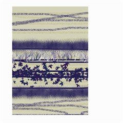 Abstract Beige Blue Lines Large Garden Flag (two Sides)