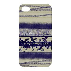 Abstract Beige Blue Lines Apple Iphone 4/4s Premium Hardshell Case