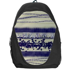 Abstract Beige Blue Lines Backpack Bag