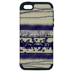 Abstract Beige Blue Lines Apple Iphone 5 Hardshell Case (pc+silicone)