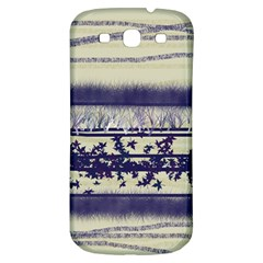 Abstract Beige Blue Lines Samsung Galaxy S3 S Iii Classic Hardshell Back Case