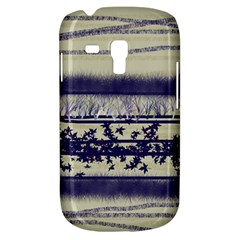 Abstract Beige Blue Lines Samsung Galaxy S3 Mini I8190 Hardshell Case