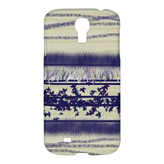 Abstract Beige Blue Lines Samsung Galaxy S4 I9500/i9505 Hardshell Case