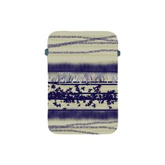 Abstract Beige Blue Lines Apple Ipad Mini Protective Soft Cases