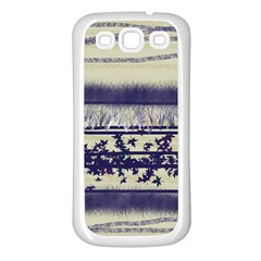 Abstract Beige Blue Lines Samsung Galaxy S3 Back Case (white)