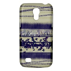 Abstract Beige Blue Lines Samsung Galaxy S4 Mini (gt I9190) Hardshell Case
