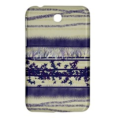Abstract Beige Blue Lines Samsung Galaxy Tab 3 (7 ) P3200 Hardshell Case