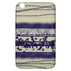 Abstract Beige Blue Lines Samsung Galaxy Tab 3 (8 ) T3100 Hardshell Case
