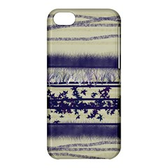 Abstract Beige Blue Lines Apple Iphone 5c Hardshell Case