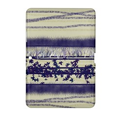 Abstract Beige Blue Lines Samsung Galaxy Tab 2 (10 1 ) P5100 Hardshell Case