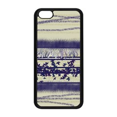 Abstract Beige Blue Lines Apple Iphone 5c Seamless Case (black)