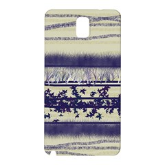 Abstract Beige Blue Lines Samsung Galaxy Note 3 N9005 Hardshell Back Case
