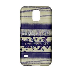 Abstract Beige Blue Lines Samsung Galaxy S5 Hardshell Case