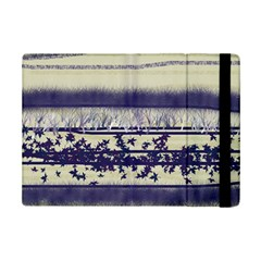 Abstract Beige Blue Lines Ipad Mini 2 Flip Cases