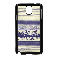 Abstract Beige Blue Lines Samsung Galaxy Note 3 Neo Hardshell Case (black)