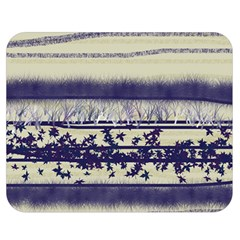 Abstract Beige Blue Lines Double Sided Flano Blanket (medium)