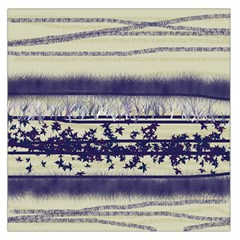 Abstract Beige Blue Lines Large Satin Scarf (square)