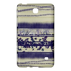 Abstract Beige Blue Lines Samsung Galaxy Tab 4 (7 ) Hardshell Case