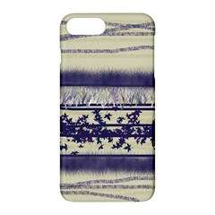 Abstract Beige Blue Lines Apple Iphone 7 Plus Hardshell Case