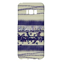 Abstract Beige Blue Lines Samsung Galaxy S8 Plus Hardshell Case