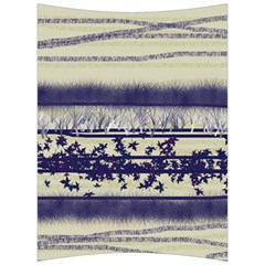 Abstract Beige Blue Lines Back Support Cushion